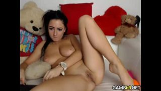 Super Hot Arab Babe Perfect Big Tits Plays With Delicate Tight Perfect Pussy & Ass on Webcam pt